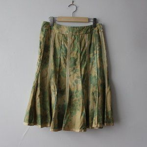 Odile by Anthropologie Green and Yellow Skirt